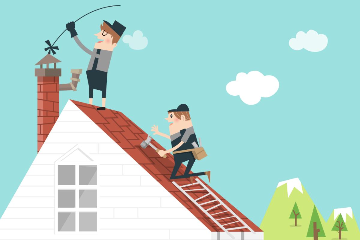 Regelmatig onderhoud van de schoorsteenveger draagt bij aan een veilige woonomgeving